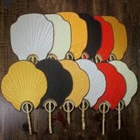 Vintage Hand Hold Fan Traditionelles Handwerk Bambus Griff Chinesische Fan Dekorative DIY Reispapierfans für Hochzeit Fine Art Malerei Programme