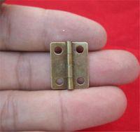 새로운 10 개 / 많은 홈 16x13mm 골동품 브론즈 / 골드 내각 경첩 가구 액세서리 보석 상자 작은 경첩 가구 피팅