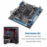 Freeshipping H61 Computer desktop Mainboard Scheda madre 1155 Pin Interfaccia CPU Aggiornamento USB2.0 DDR3 1600/1333