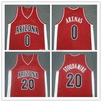 # 0 Gilbert Arenas # 20 Amar'e Stoudemire Arizona Wildcats Koleji Retro Basketbol Jersey Erkek Dikişli Özel Herhangi Bir Numara Ad Adseys