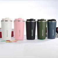 머그잔 Office Roadtrip 자동차 드라이브 스타 벅스 병 휴대용 커피 Dlickwares 더블 방패 두꺼운 장기 절연 머그잔 수분 우유 와인 주스 액체 컵