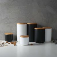 260ML / 800ML / 1000ML مختومة جرة التخزين السيراميك للعطارة دبابات الحاويات لتناول الطعام مع غطاء زجاجة لصنع الشاي العلبة المطبخ