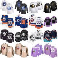 2020 New York Islanders d'Oro edizione Hockey su ghiaccio 53 Casey Cizikas maglie 55 Johnny Boychuk 47 Leo Komarov 3 Adam Pelech Nome personalizzato