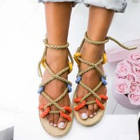 2020 New Sandals Woman Shoes Braided Rope with Traditional Casual Style and Simple Creativity Fashion Sandals Women Summer Shoes