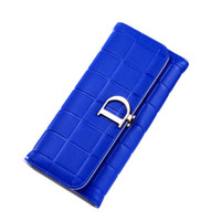 2019 European and American style new lady purse long style f...
