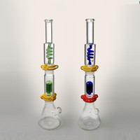 16 Inches Beaker Glass Water Bong Blue Green Color Bongs Hoo...