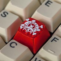 [HFSECURITY] One Piece Monkey D Luffy Strohhut Pirates Metal 3D Keycaps für mechanische Tastatur-Gaming-Tastaturen Keycaps