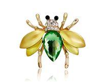 Gioielli in lega placcati argento Moda Crysatl a forma di ape spille cristallo colorato carino honeybee spille pins gioielli pary