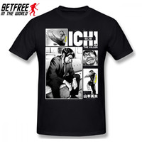 Ichi Katil Erkekler T Shirt sokak giyim Oversize Pamuk Özel Kısa Kollu Erkek T Shirt