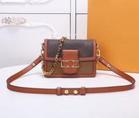 2020 جودة عالية رفرف حقيبة مصمم فاخرة حقائب الغروب الأصلي جلد المرأة حقائب الكتف الأزياء المتوسطة حقيبة crossbody