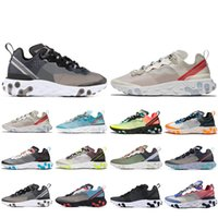 Venta caliente React Element 87 zapatillas para hombre mujer Sail Royal Tint Anthracite VOLT RACER PINK Mens Trainer deporte zapatillas 36-45