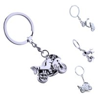 LISTE&LUKE 3D Mini Motorcycle Cool Silver Metal Charm Car Ke...