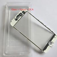 Soğuk Basın Değiştirme LCD Ön Dokunmatik Ekran Cam Dış Lens çerçeve ile OCA filmi iphone 8 7 6 6 s artı 5 s 5g 5c