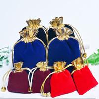 المخملية المجوهرات الرباط الحقيبة حقيبة النسيج مجوهرات التجميل هدية التعبئة والتغليف متعددة الأغراض أكياس صغيرة الحجم