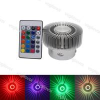 LED Ayçiçeği Duvar Lambası Kapalı 3 W Projeksiyon Sconce Alüminyum AC110V 220 V Renkli Aydınlatma Lobi Merdivenleri için KTV Bar Epacket