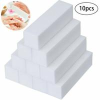 Best Selling 10 Stks Nail Buffer Blok 4 Way Sanding Block File Polisher Spong Sand Blok Gratis Verzending