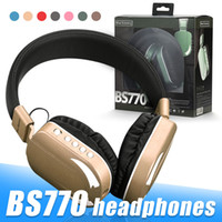 BS-770 Music Headset Over-Ear Wireless Headphone Noise Reduction with Mic Earphones For Tablet Laptop Device In Retail Box