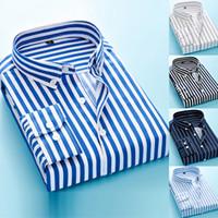 100 % 코튼 옥스포드 남성 셔츠 높은 품질 스트라이프 비즈니스 캐주얼 소프트 드레스 사회 셔츠 레귤러 피트 남성 셔츠 큰 사이즈 5XL