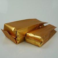 7.5x15cm 100pcs / lot Matte Oro di alluminio Oragan Bag, Matt Golden alluminatura placcatura soffietto tasca termosaldata, Chocolate Bar Confezione Bag
