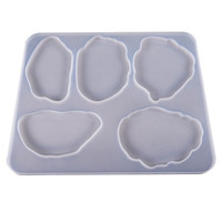 Agate Coaster Molds Silicone Resin Moulds 5 Cavity Flexible ...