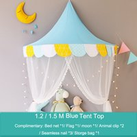 All'ingrosso Baby Kids Half Moon Tent Girls 100% cotone Princess Bed Net Bambini Bedroom Decor Infant Interior Play House Baby House Tenda