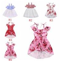 Детская дизайнерская одежда девушка подтяжки платья дети лето с плеча платье принцессы мода лоскутное плиссированные юбки лук сарафан PY473