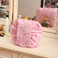 Protable Cosmetic Travel Pouch Drawstring Cosmetic Bag Women...