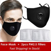 Free Shipping Reused Face Masks with breather cotton mask Ad...