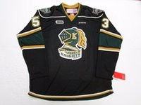 95b2d7e9fb5 New Arrival. Cheap custom BO HORVAT OHL LONDON KNIGHTS BLACK CCM HOCKEY  JERSEY stitch add any number any name Mens ...