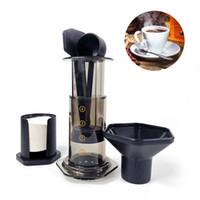 تصفية 350ML جديد زجاج اسبرسو صانع القهوة المحمولة مقهى الصحافة الفرنسية CafeCoffee وعاء لAeroPress آلة T200111