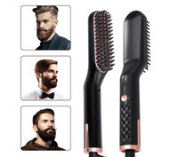 Борода Выпрямитель Выпрямитель для волос Щетка Антистатический керамический нагревательный Detangling Быстрее выпрямления Борода Гребень для мужчин