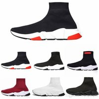 balenciaga  2020 ACE Designer ocasional meia Shoes Speed ​​Trainer Preto Red Triple Preto Moda Meias instrutor da sapatilha sapatos casuais 5.5-12