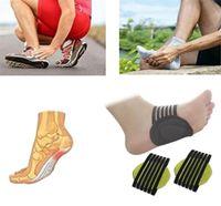 Nueva Salud correcta Pie plano la ayuda de arco Plantillas ortopédicas hombres de las mujeres La mitad plantillas del zapato Pies Accesorios para el cuidado del cojín Zapatos