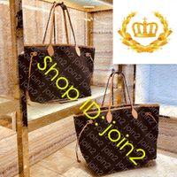 Top M40990 NF GM MM PM Canvas Saco de compras Designer Womens Ombro Bolsa de Luxo Casual Viagem Beach Tote Com Removível Embreagem Pochette Bolsa
