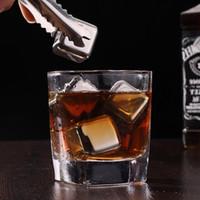 Aço inoxidável Cubos de gelo Balde Bar KTV Magia Vodka Whiskey Pedra Vinho Whisky cerveja Refrigerador Ferramenta de Suporte Chiller