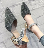 Spring pointed single shoes female 2019 new fairy style catc...