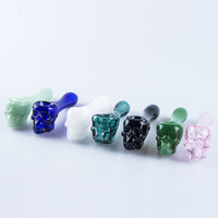 Approx 4 Inches Skull Glass Spoon Pipes thick Heavy Hand Tob...