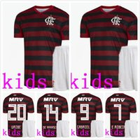 54a8b3ad9 19 20 kids kit Flamengo home red Soccer Jersey 2019 GUERRERO DIEGO EDERSON Soccer  shirt MANCUELLO VINICIUS JR Custom football uniforms