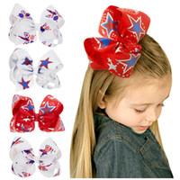 Licorne ruban 4th de juillet Cheveux Arcs Clips Filles Hairbow USA Drapeau jour de L'indépendance Hairgrip Festival Enfants Cheveux Accessoires HC134