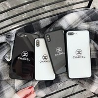 Wholesale luxury Fashion Tempered Glass Phone Case for Iphon...