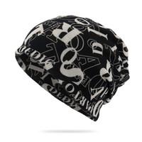 Unisex Harf Baskı Beanie Hat Eşarp Erkekler Kadınlar Kemo Beanie Yaka Turban Başkanı Wrap at kuyruğu Cap Dönüştürülebilir Windproof Hat Caps