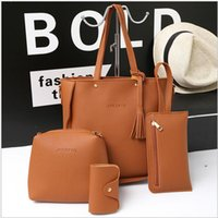 2020 Cheap Women Casual Mother- in- law Bag 4 Piece Sets Large...
