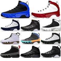 Nike AIR Jordan 9 Nuovo 9 Gym Red Racer Blue Dream Bred UNC Space Jam scarpe da basket degli uomini 9s Cool Grey Antracite Sport Sneakers con calzini liberi