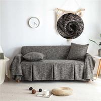 غطاء صوفا قطن كتان صوفا منشفة الأغلفة الأغطية الحديثة غير زلة لغرفة المعيشة الأريكة غطاء أثاث يغطي 1PC