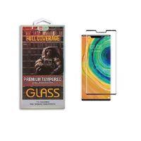 Para LG G-8 V50 V40 V30 Caso pantalla 3D friendly Versión curvo de vidrio templado protector para Huawei compañero Pro 30 con el paquete al por menor