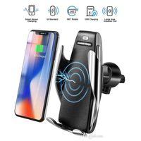 S5 Беспроводное зарядное устройство Автоматическое зажимное автомобильное зарядное устройство держатель монтаж Умный датчик 10W быстрая зарядное зарядное устройство для универсальных телефонов MQ20