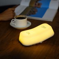 Weiße Kunststoff Maus Nachtlichter LED-Schlafzimmer Bettlicht Luminaria Baby Fütterung LED Tischlampe Atmosphäre On-Off-Lampe