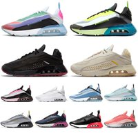 Nike air max 2090 mens Running shoes Orca White Burgundy Primeknit sports trainers men women sneakers 36-45