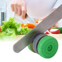 Hızlı Grindstone Yuvarlak Şekil Bileme Taş Grindstone Bileme Taş Bıçak Kalemtıraş Taş Ev Mutfak Bıçak Kalemtıraş