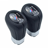 Real Hole leather 5 6 Speed Left Right Drive Gear Shift Knob...